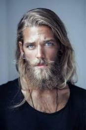 long hair beard