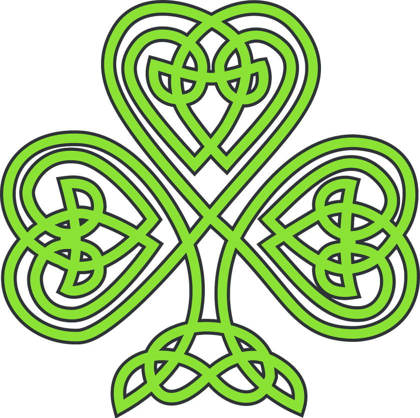 Celtic Knotwork Shamrock