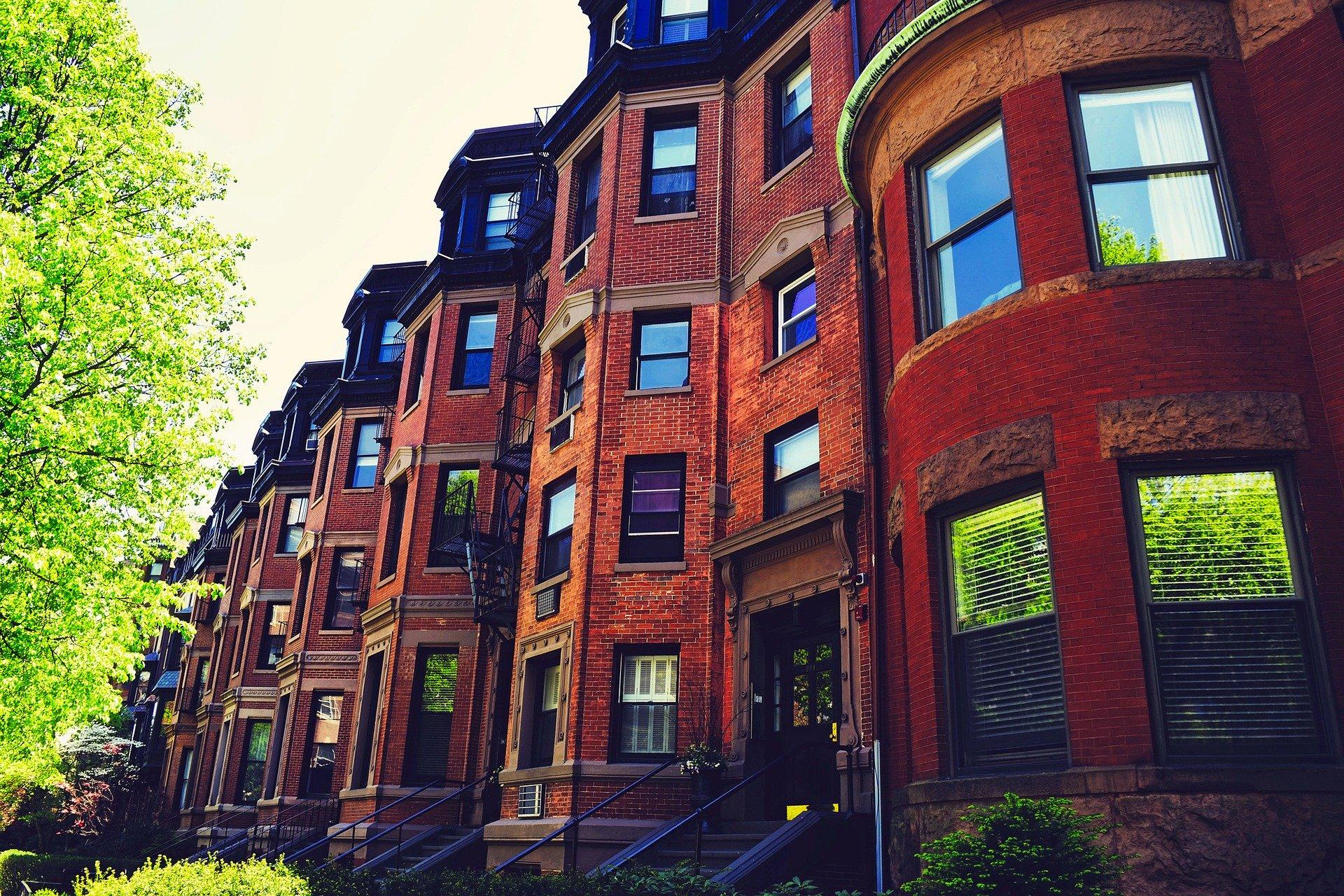brownstone houses in Boston